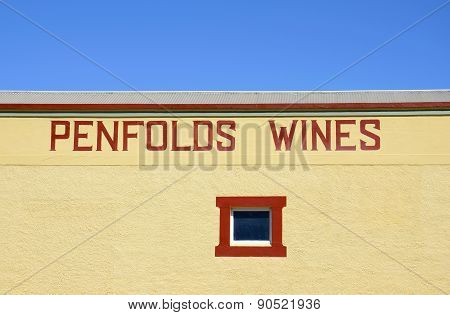 Barossa Valley Penfolds Estate Premium Wine Making Company.