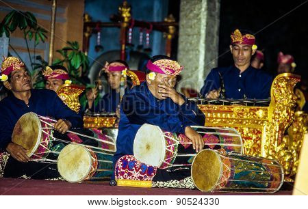 Gamelan Ensemble Plays During The Galungan Festival