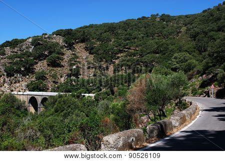 Mountain road, Sierra de los Alcornocales.