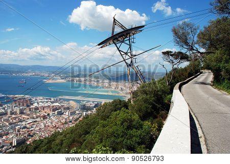 Mountain road, Gibraltar.