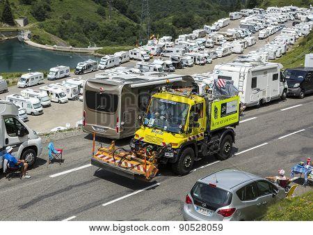 Technical Truck On The Road Of Le Tour De France 2014