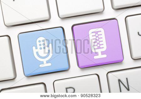 Microphone key on keyboard