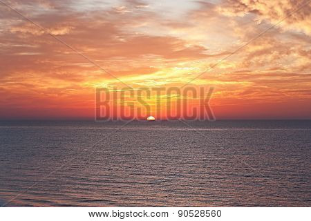Sunrise On The Sea