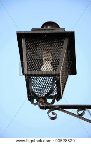 Spanish wrought iron lantern.