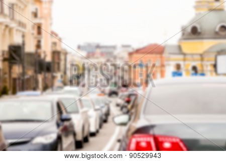 blurred traffic jam