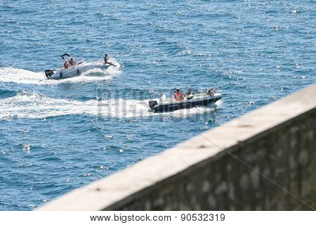 Two Powerboats In Adriatic Sea
