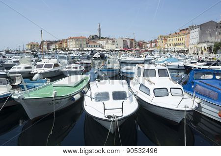Boats Anchored In Rovinj