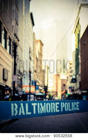 Baltimore Police Barrier