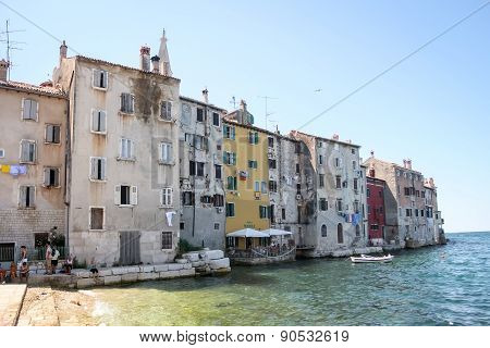 Buildings On Coast In Rovinj