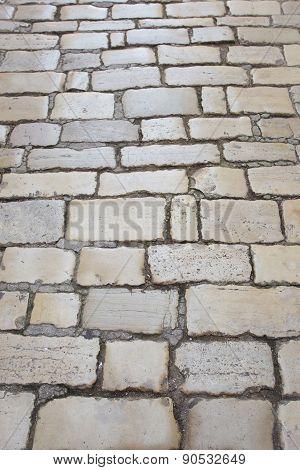 Cobblestone Pavement In Rovinj