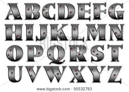 Fedora Bandit Gangster Alphabet
