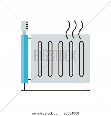 Heating Radiator Flat Line Icon Concept