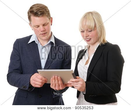 business people with tablet