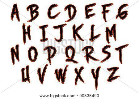 Skinner Halloween Alphabet