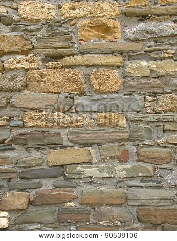 Ancient Wall From Sandstone Brick