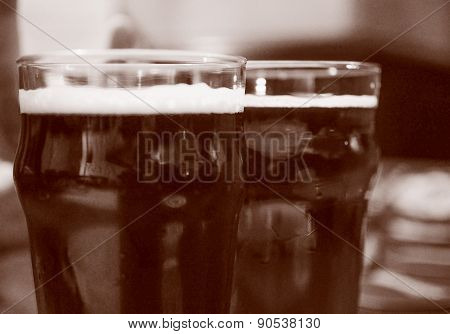 Retro Look Beer Pint