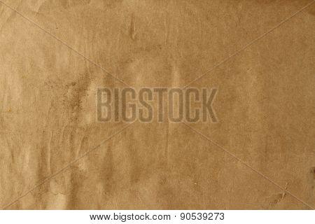 Closeup of brown grunge paper texture