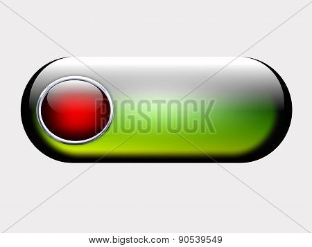 web button, metal and gradient shape