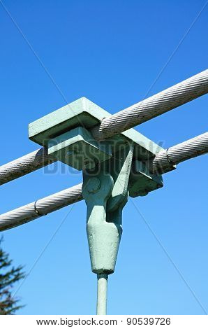 Suspension bridge cable support.