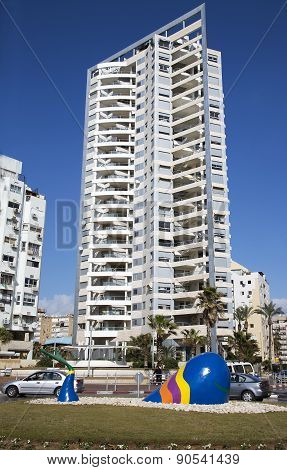 Modern multistory newest architecture in Bat Yam