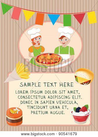 Delicious Party Card Design