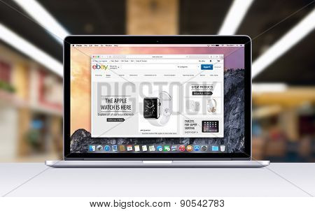Apple Macbook Pro Retina With An Open Tab In Safari Which Shows Ebay Web Page