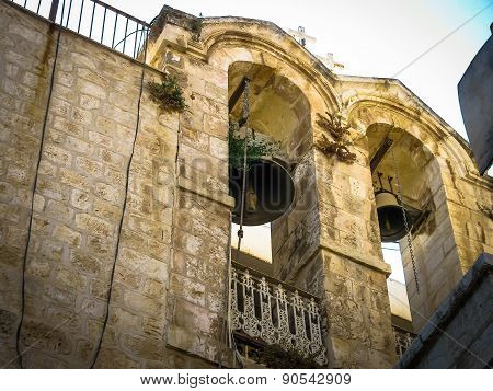 Belfry  In The Christian Quarter Of Old Jerusalem