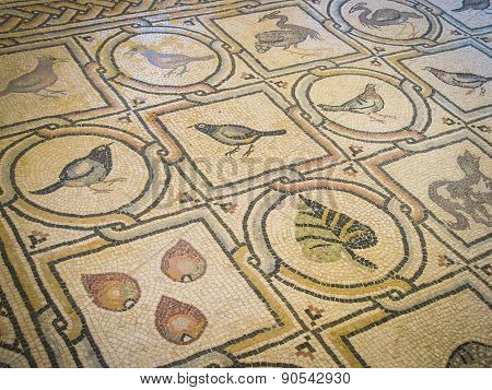 Ancient Mosaic In Convent Of The Ascension On Mount Of Olives, Jerusalem