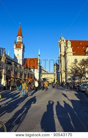 View To Old Town Hall In Munich