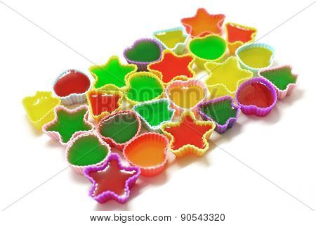 Colorful Gelatin Or Jelly Dessert
