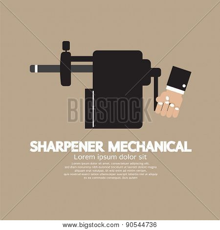 Sharpener Mechanical With Pencil Inside.