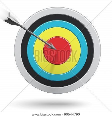 Arrows Hitting The Center Of The Target - Success Business Concept