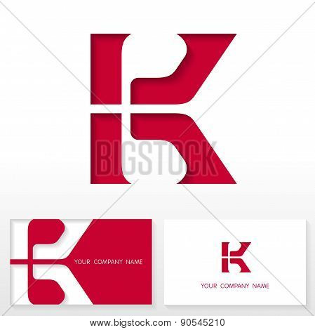 Letter K logo icon design template elements - Illustration.