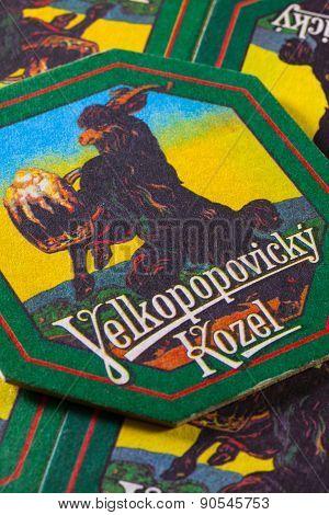 Beermats From Velkopopovický Kozel Beer.