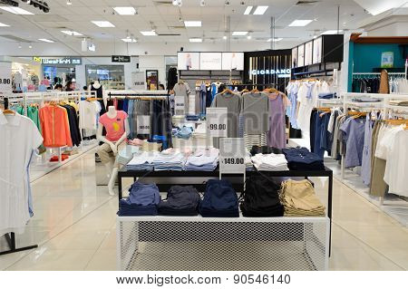 SHENZHEN, CHINA - MAY 06, 2015: store interior. Shenzhen is a major city in the south of Southern China's Guangdong Province, situated immediately north of Hong Kong
