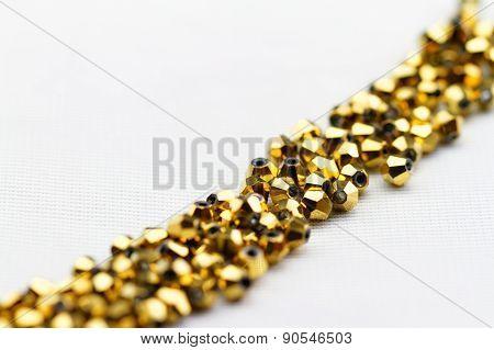 Golden Glass Beads