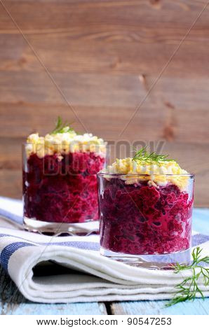 Appetizer Of Beets With Eggs
