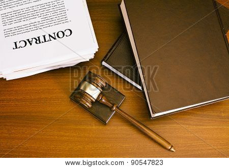 Gavel and contract