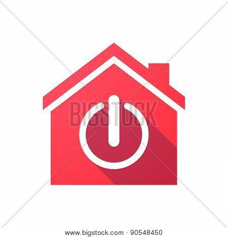 Red House Icon With An Off Sign