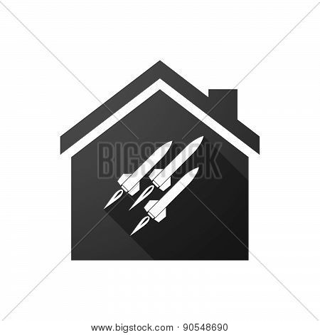 Black House Icon With Missiles