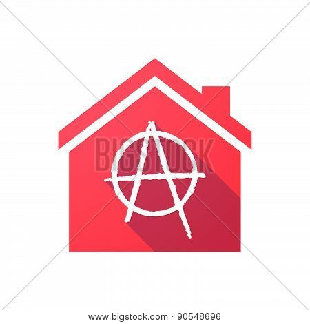 House Icon With An Anarchy Sign