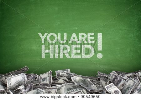 You are hired on Blackboard