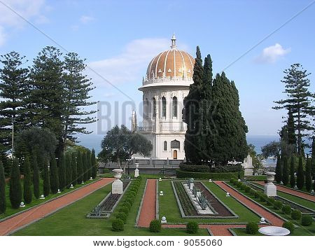 Haifa Bahai Gardens Shrine Of Bab December 2003