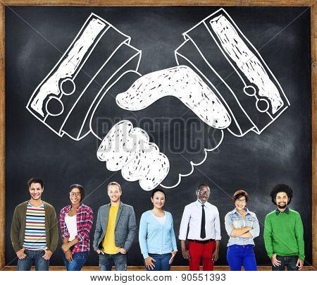 Handshake Agreement Partnership Deal Trust Welcome Concept