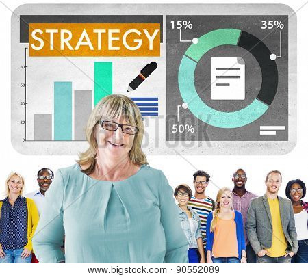Strategy Tactics Figures Business Concept