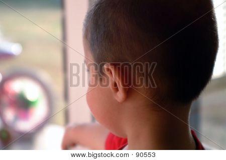 Children-Wishing For Outside