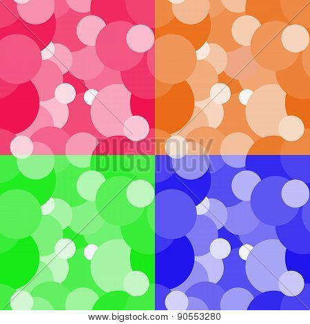 Colorful circles seamless pattern background