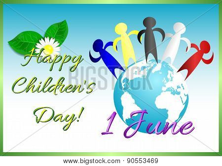 Postcard On June 1 - International Children's Day