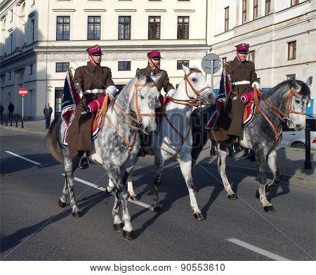 Polish cavalry.