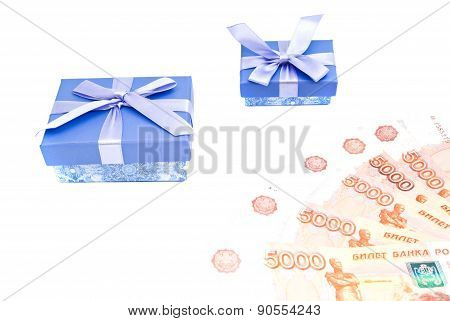 Blue Gift Boxes And Notes